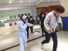 青岛安宁医院举行消防应急演练